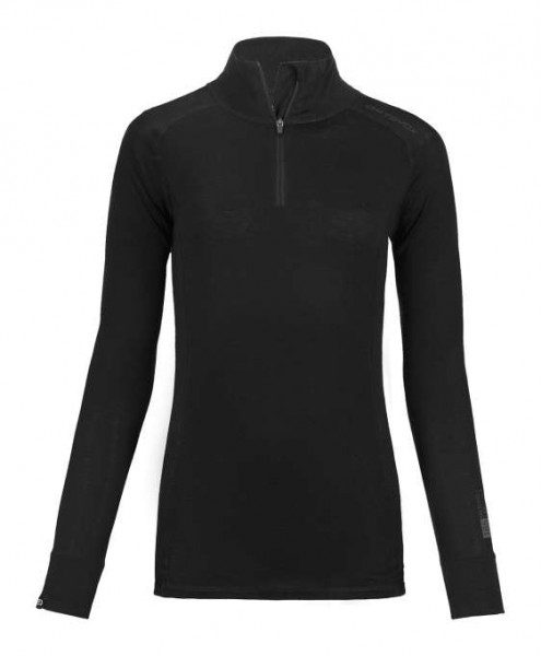 185 Pure Long Sleeve Zip Neck W